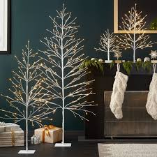 Decorative Trees With Lights Christmas Decor Stockings Pillows U0026 More Crate And Barrel