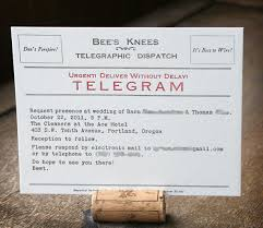 Telegram Wedding Invitation Telegram Wedding Invitations A Bit Of Vintage Added To A Winter