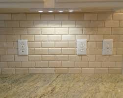 KITCHEN Backsplash  X  Crema Marfil Beveled Subway Tile - Beveled subway tile backsplash