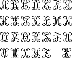 monogram letter font exle make a monogram