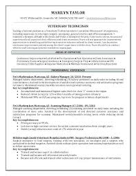 veterinary technician resume exles vet tech resume sles surgical technician resume sle cover