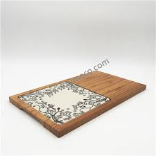 ceramic cutting boards ceramic plate with bamboo tray cheese board cake holder serving