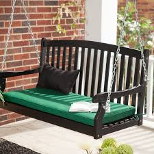 coral coast pleasant bay white curved back porch swing with