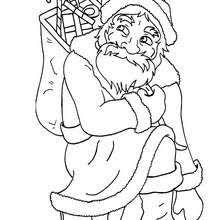 santa u0027s costume coloring pages hellokids