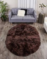 Sheepskin Area Rugs Cocoa Brown Oval Sheepskin Fur Rug 5x8 Fursource