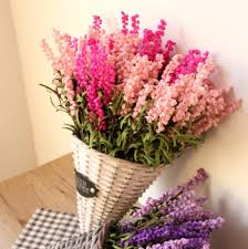 wedding flowers gift romatic pink purple lavender pe artificial flower day