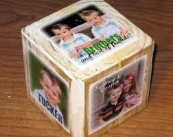 Photo Cubes Centerpieces by Personalized Photo Block Centerpieces Set Of 3 Photo Cubes In