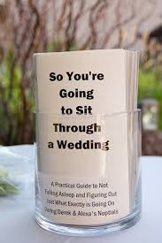 wedding program board 50 offbeat wedding ideas for the non traditional