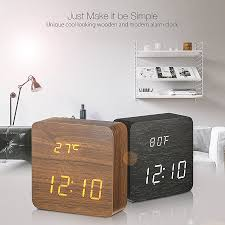 digoo dg ac1 wooden led digital alarm clock multifunctional 2 mode