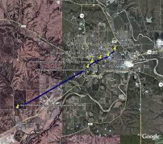 Map Of Manhattan Kansas June 11 2008 Manhattan Tornado