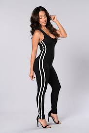 black and white jumpsuit on it jumpsuit black white