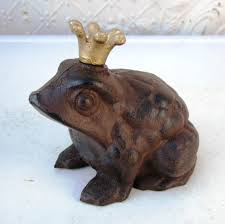 frog prince garden statue home outdoor decoration