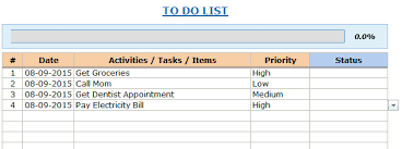 weekly task report template excel excel to do list template free