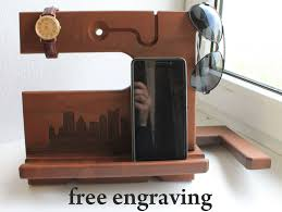 Personalized Desk Organizer by Iphone8 Dock Organizer Iphone Personalized Men Docking Station