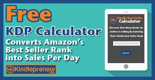 best on amazon kindle best seller calculator converts amazon sales rank
