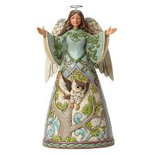 amazon com department 56 jim shore heartwood creek angel with owl