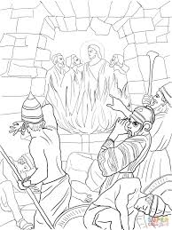 shadrach meshach and abednego in the fiery furnace coloring page