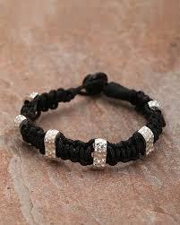 black thread bracelet images Buy designer mens bracelets black thread with silver beaded jpg