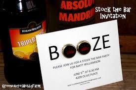 stock the bar party greene acres hobby farm stock the bar party invitation