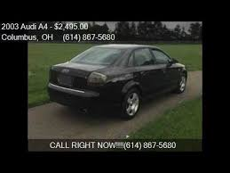 audi a4 for sale columbus ohio 2003 audi a4 1 8t 4dr turbo sedan for sale in columbus oh 4