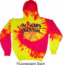 mens halloween hoodie scary enough tie dye hoody scary enough