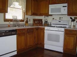 white appliance kitchen ideas kitchen color ideas for oak kitchen cabinets my home design journey