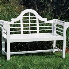 White Wooden Garden Furniture Lutyens Garden Bench From Jackson U0026 Perkins