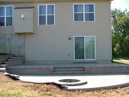 cinder block patio steps modern patio