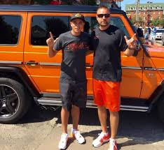 orange jeep lifted golfer rickie fowler flaunts his orange g class at oklahoma state