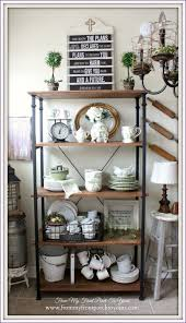 Bakers Rack Wrought Iron Kitchen Room Awesome Pine Bakers Rack Wrought Iron Bakers Rack