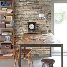 ledgestone grey and terracotta wallpaper from the modern living