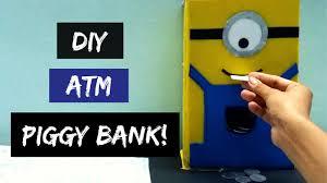 how to make atm piggy bank at home diy piggy bank atm piggy bank