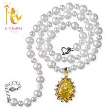 round freshwater pearl necklace images Nymph real pearl jewelry natural freshwater pearl necklace white jpg