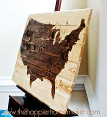 wooden united states wall another diy stained wood map the happier homemaker