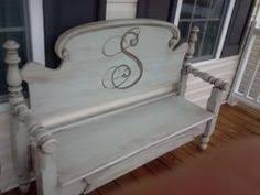 Bench From Headboard Bench With Storage Beyond The Picket Fence Style Http Bec4
