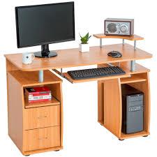 Schreibtisch Mit Computertisch Computertisch Pc Tisch Arbeitstisch Mit Schubladen Schreibtisch
