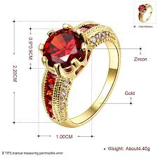 red jewelry rings images Engagement rings cubic zirconia rings luxurious red jewelry jpg
