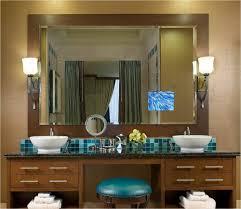 tv in a mirror bathroom electric mirror bathroom tv creative bathroom decoration