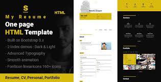 s resume cv portfolio one page html template by sushan jariwala