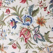 Vintage Floral Upholstery Fabric Raymond Waites Fabric Ebay