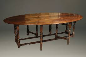 Oval Drop Leaf Table English Oak Gateleg Drop Leaf Table