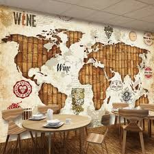 online get cheap map wallpaper mural aliexpress com alibaba group custom wall mural wallpaper world map red wine oak european style retro wallpaper murals 3d restaurant