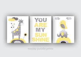 Yellow And Grey Nursery Decor Yellow Grey Nursery Decor Nursery Print Nursery Yellow