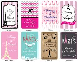 themed personalized cards new wedding favors