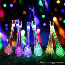 5m 30led led string lights water drop christmas light plug in