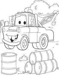 mater coloring pages disney disney cars movie doc and lightning