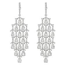 diamond chandelier pear baguette cut diamond chandelier earrings betteridge