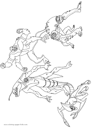 aliens ben 10 coloring picture
