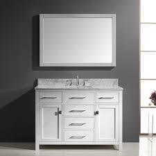 Marble Top Vanities Virtu Usa Ms 2048 Wmsq Wh 002 Caroline 48 In Bathroom Vanity Set