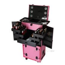 makeup luggage with lights mobile makeup case with lights wholesale from china